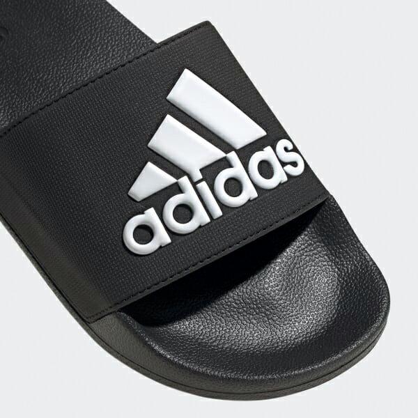 Shoestw【F34770】ADIDAS ADILETTE SHOWER 拖鞋 防水拖 大LOGO 黑白 男生尺寸 1