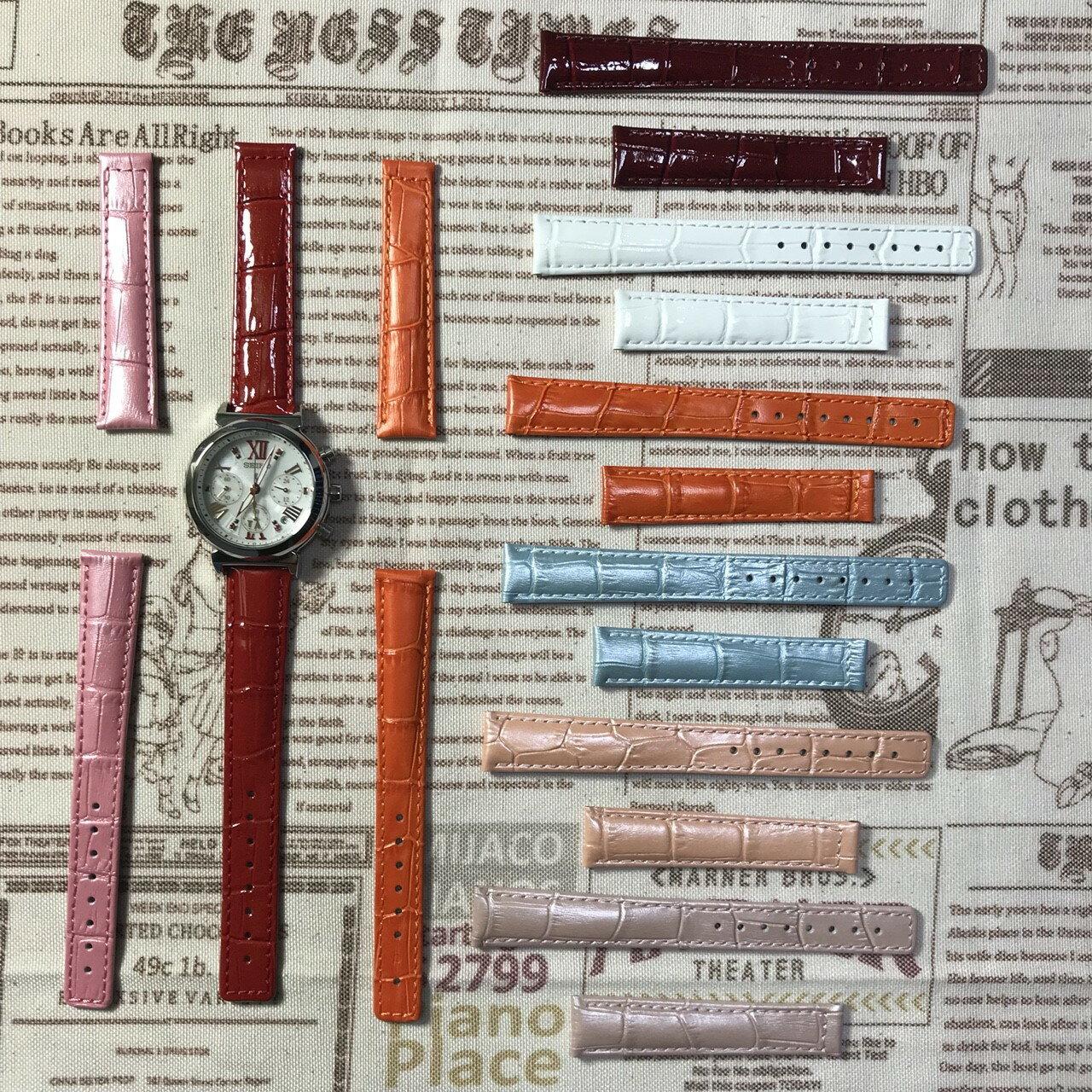 精工錶seiko-LUKIA牛皮專用錶帶16MM/15MM