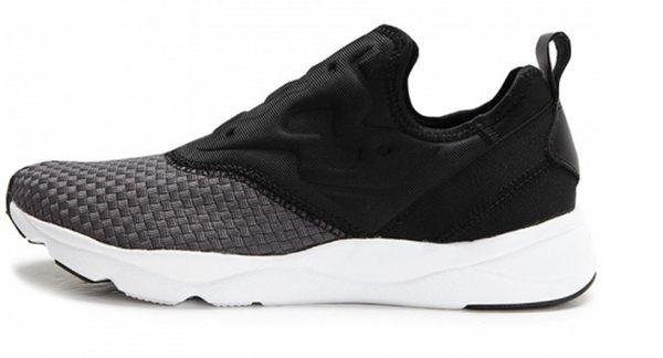 REEBOK FURYLITE SLIP ON WW 女鞋 黑灰白 編織 懶人鞋 運動 【運動世界】 BD1431