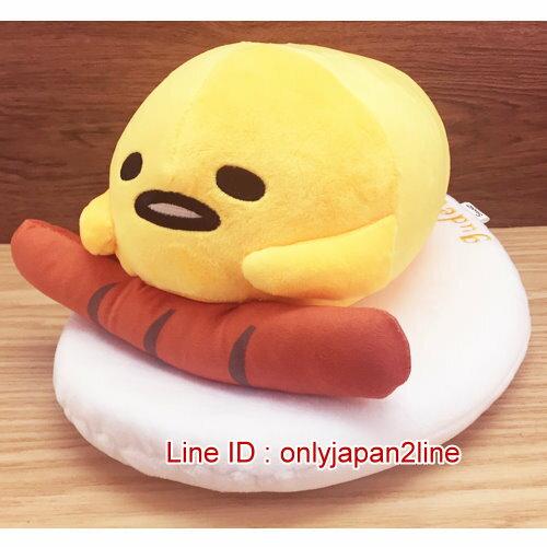 【真愛日本】17011600006全身趴娃-12吋蛋黃哥香腸    蛋黃哥 三麗鷗  抱枕 靠枕 娃娃