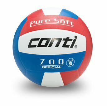 [陽光樂活=] CONTI 超軟橡膠排球(5號球) 紅/白/藍 V700-5-RWB