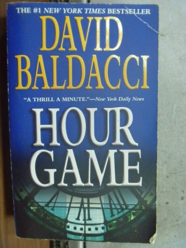 【書寶二手書T7/原文小說_HLS】Hour game_David baldacci