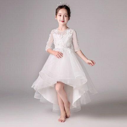 花童禮服 女童公主裙蓬蓬紗兒童走秀晚禮服小主持人鋼琴演出服花童婚紗裙冬 家家百貨