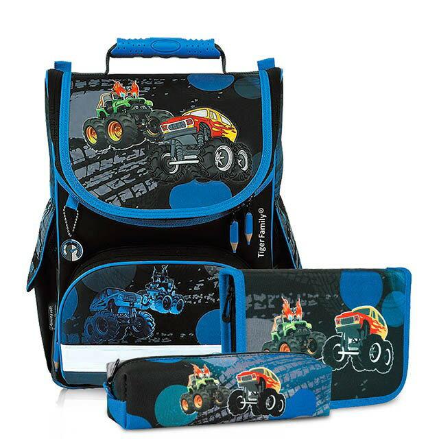 帝安諾 - 實體店面 Tiger Family超輕量書包+文具袋+鉛筆盒-吉普車 I-TGNQ-016AF