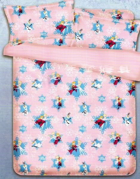 *華閣床墊寢具暢貨批發中心*《舞動冰雪》雙人床包組【床包+枕套*2】  MIT