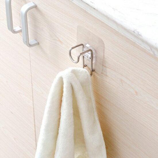 ♚MYCOLOR♚不銹鋼臉盆掛勾浴室衛生間無痕免釘黏勾牆壁吸盤掛臉盆架【P422】