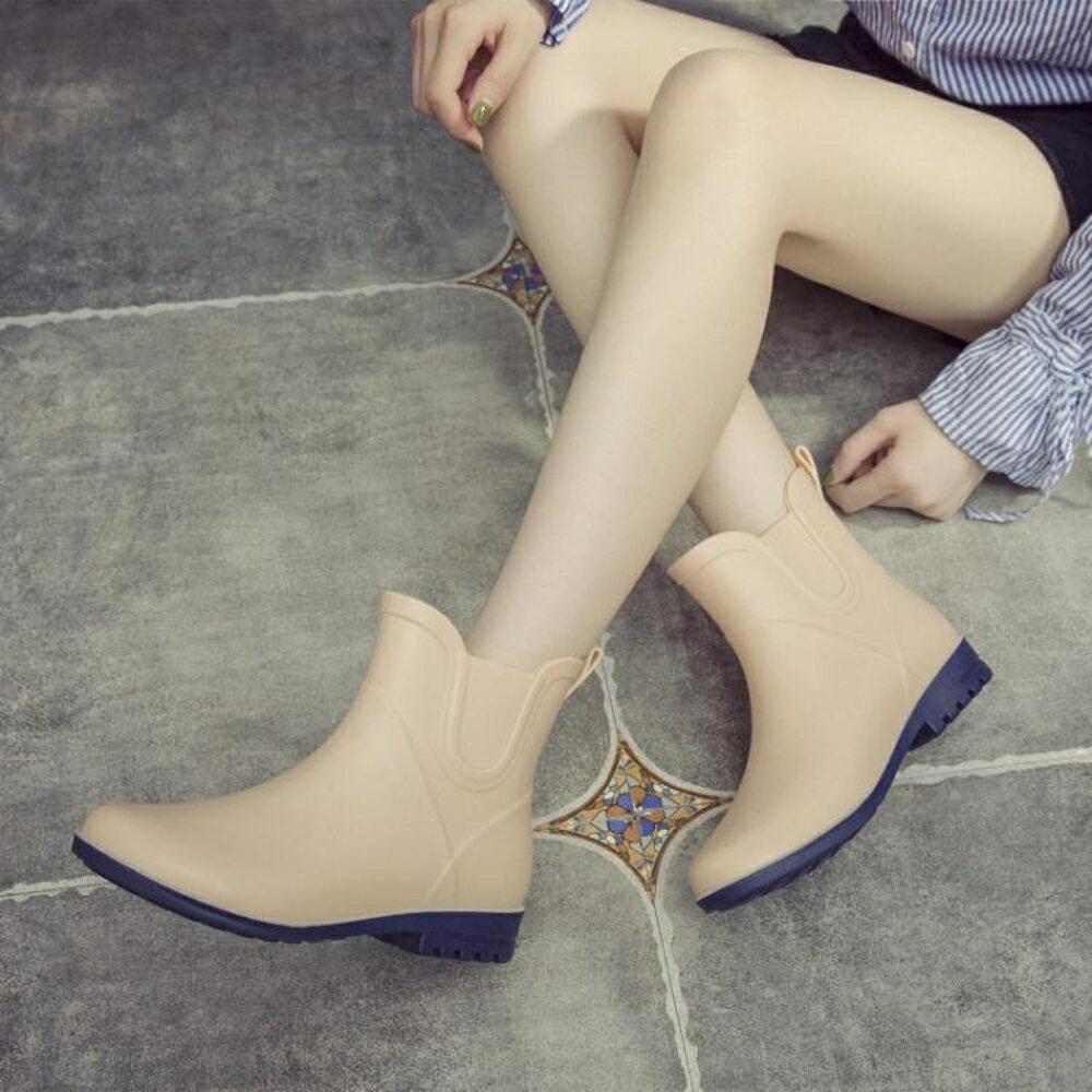 時尚雨鞋女百搭雨鞋女短筒成人水靴雨丁靴套加絨保暖防滑水鞋  錢夫人小鋪
