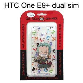 海賊王透明軟殼 [字母] 索隆 HTC One E9+ dual sim (E9 Plus) 航海王【正版授權】