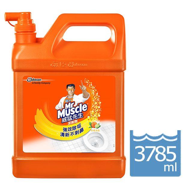 (箱購免運) 威猛先生 潔廁劑 柑橘清香(3785ml*4/箱) 加侖桶