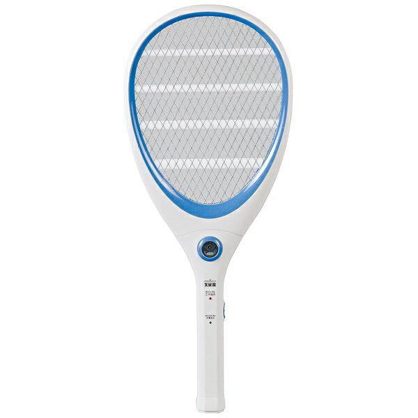【大家源】三層充電式電蚊拍-網球拍造型款。繽紛藍/TCY-6143