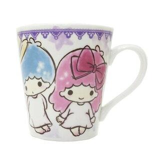 【真愛日本】 17082200014 寬口馬克杯-TS星星紫 三麗鷗 kikilala 雙子星 杯子 水杯