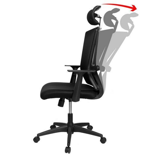 Ergonomic Office Swivel Chair Mesh Padded Seat Adjustable Chair 4