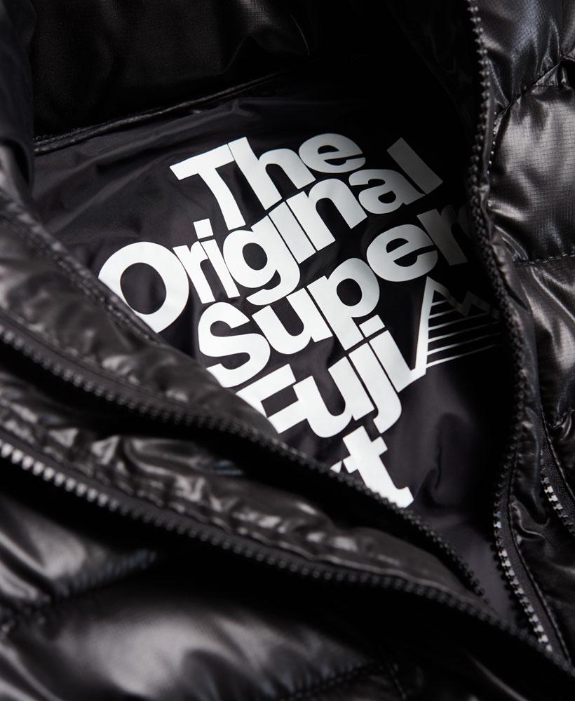 [男款]英國代購 極度乾燥 superdry Fuji 男士保暖 雙拉鍊漆皮休閒雪地加厚夾克外套 黑色 3
