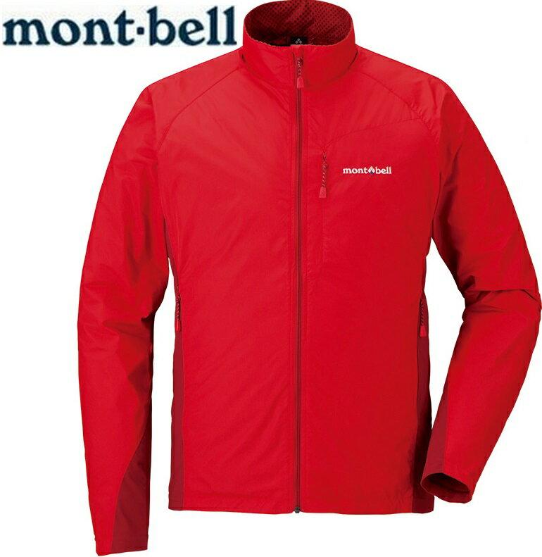 Mont-Bell 風衣外套/登山外套 防潑水保暖防風 Light Shell 男款 1106557 磚紅RDBR