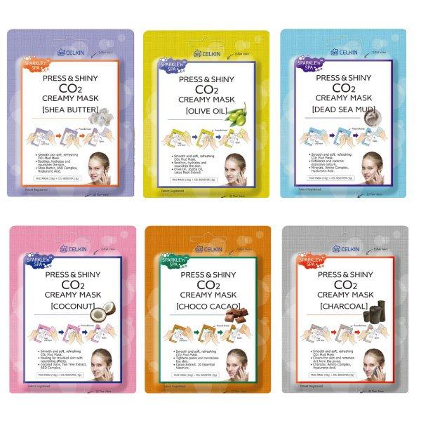 韓國CELKINCo2碳酸泡泡清潔面膜(10g+3g)多款可選【櫻桃飾品】【20441】