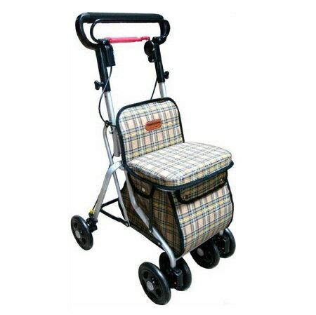鋁製銀髮族健步車 散步購物車 F685