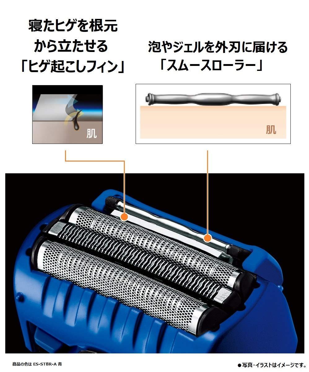嘉頓國際 國際牌 PANASONIC【ES-ST8R】電動刮鬍刀 電鬍刀 鬍渣感測器 泡沫製造 電鬍刀 全機防水 6