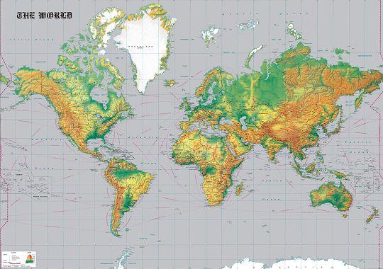 壁紙屋本舖:世界地圖藍灰色MIT免運客廳兒童房4007