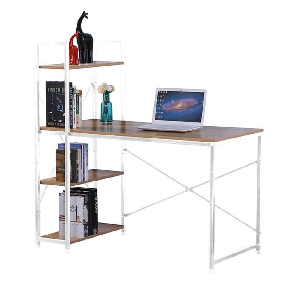 艾美4尺本色白腳書桌架書桌/H&D東稻家居-618購物節