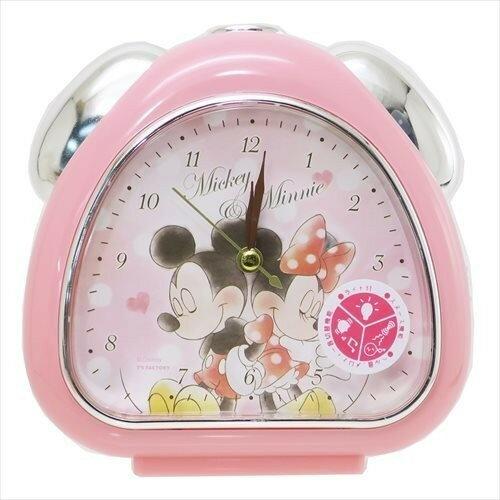 X射線【C063420】米奇Mickey米妮Minnie鬧鐘-圓點,時鐘掛鐘壁鐘座鐘鬧鐘鐘錶手錶潛水錶