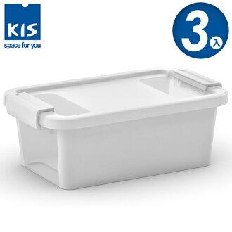 E&J【012011-02】義大利 KIS BI BOX 單開收納箱 XS 白色 3入;收納盒/整理箱/收納櫃/玩具盒