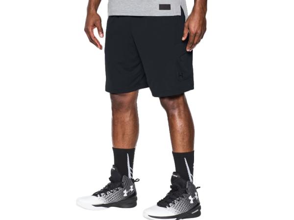 《UA出清69折》Shoestw【1290557-001】UNDERARMOURUA服飾短褲運動褲Courtside黑色男生