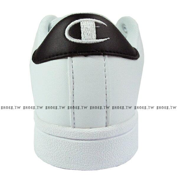 Shoestw【921210101】【921220101】Champion 休閒鞋 貝殼鞋 板鞋 皮革 白黑 男女尺寸都有 情侶款式 2