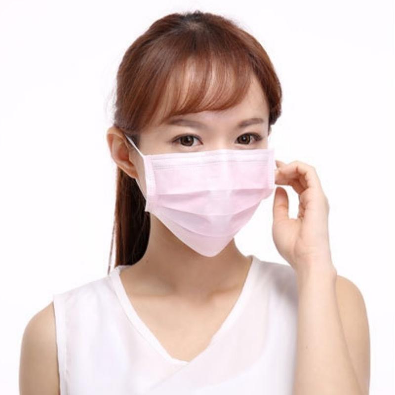 (台灣現貨50入裝)熱銷歐美CE認證三層熔噴拋棄式平面防護口罩 防塵口罩 三層口罩 防塵防飛沫 透氣