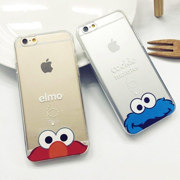 iPhone 6/6S 6S PLUS 5S ELMO 芝麻街 艾蒙 獨創 全包覆 可掛繩 手機殼 保護套