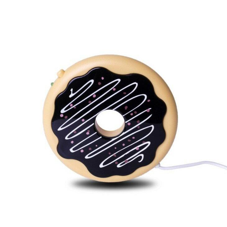 創意甜甜圈USB保溫杯墊6810 曲奇餅幹水杯加熱碟 電腦USB咖啡保溫杯墊xxxxboykimoxxxxboykimo
