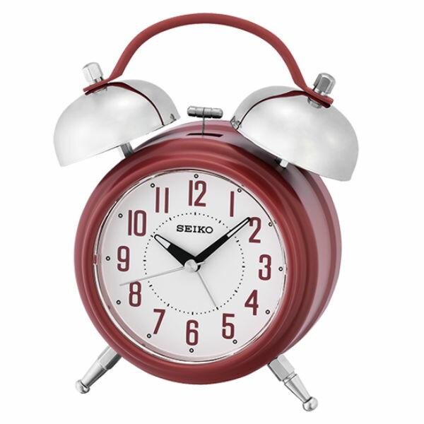 Seiko 精工鐘 (QHK051R) 夜光效果圓形標準鬧鐘(紅)/18.3*14.2*6.8 cm