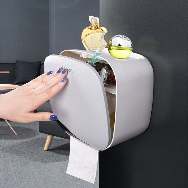 極簡浴室面紙收納架面紙盒紙巾架DCL7139
