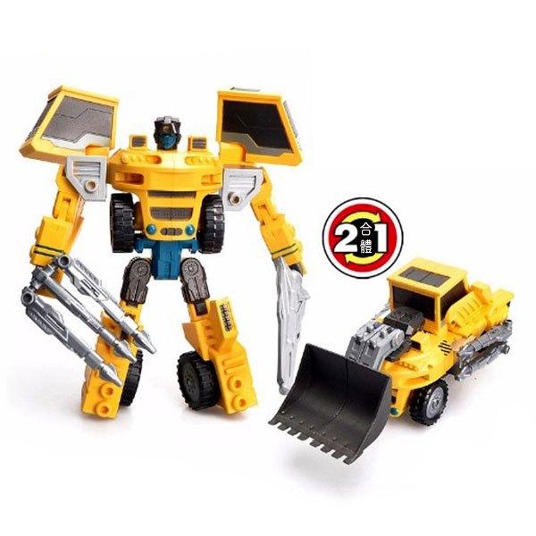 【888便利購】精緻盒裝工程推土機變形機器人(808)