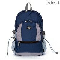 【Roberta Juden】小背包背開拉鍊 輕量防潑水布料(R702-深藍色)【威奇包仔通】