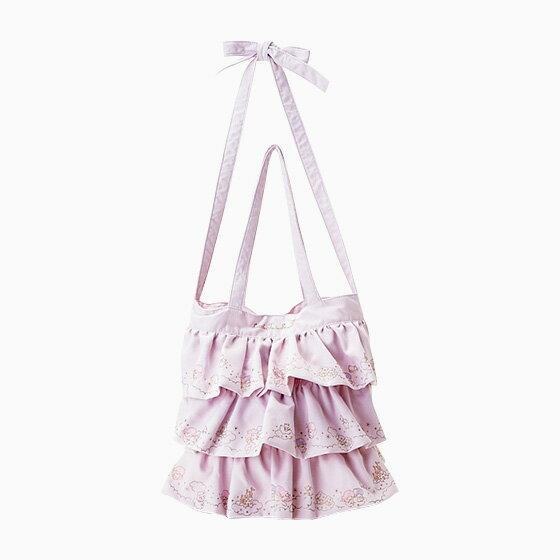 【真愛日本】4901610486566 滾邊側背提包-TS紫AAX 三麗鷗 kikilala 雙子星 包包