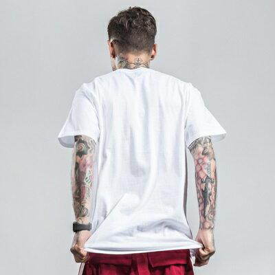 短袖T恤休閒上衣-線條印花圓領純色男裝2色73qx58【獨家進口】【米蘭精品】 1