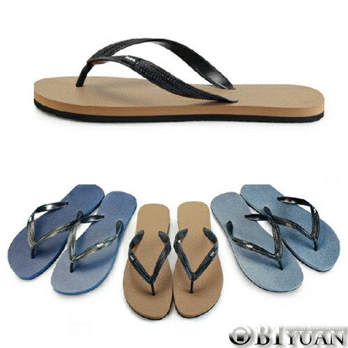 MIT 拖鞋~QPPDP19~OBI YUAN韓系簡約風格素面雙色人字夾腳拖鞋 共3色