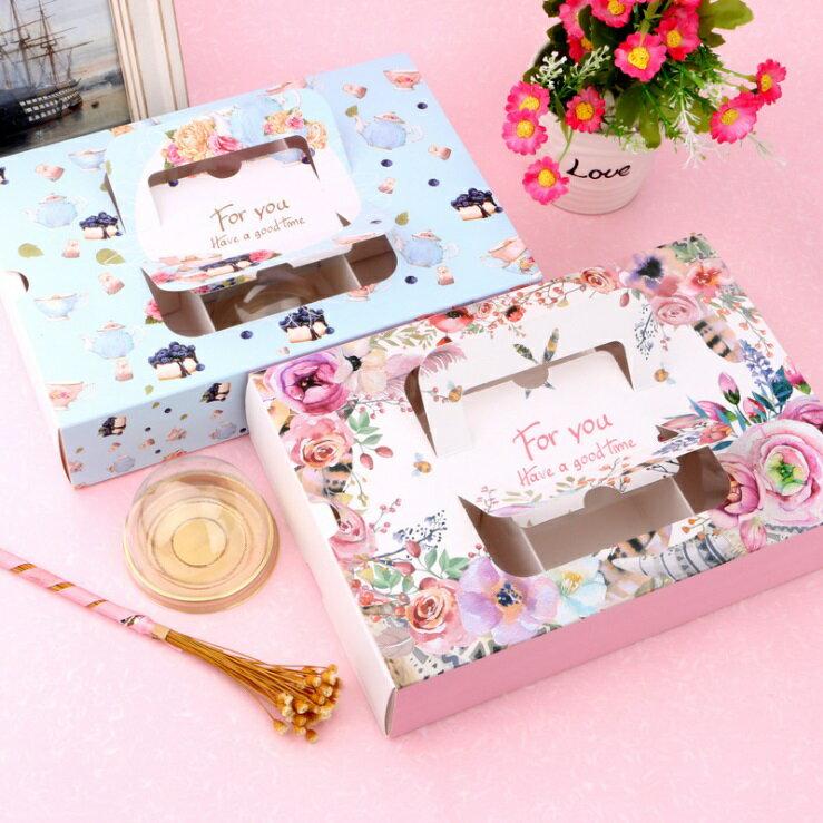【嚴選SHOP】4格/6格手提抽屜盒 雪媚娘盒 開窗月餅盒 新年雪花奶酥 蛋黄酥盒 牛軋糖盒 中秋禮盒包裝盒【C115】