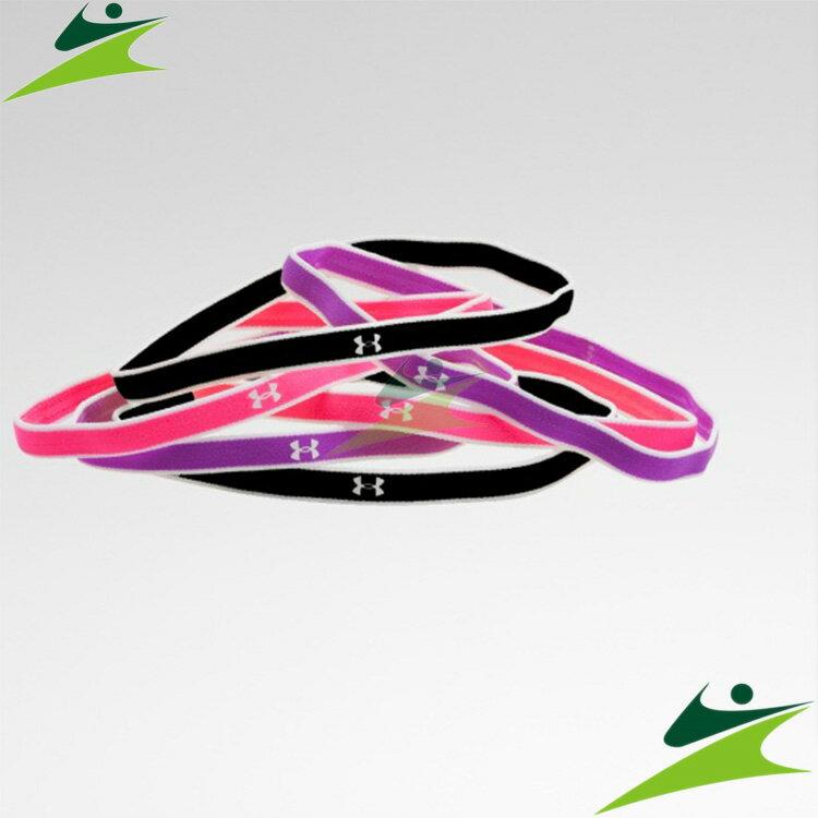 元禾)) UNDER ARMOUR 女Mini頭帶 紫/黑 1260562-913
