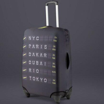 彈性行李箱套/出國旅遊/自助旅行/行李包膜/行李套 Bibelib法國設計品牌-目的地