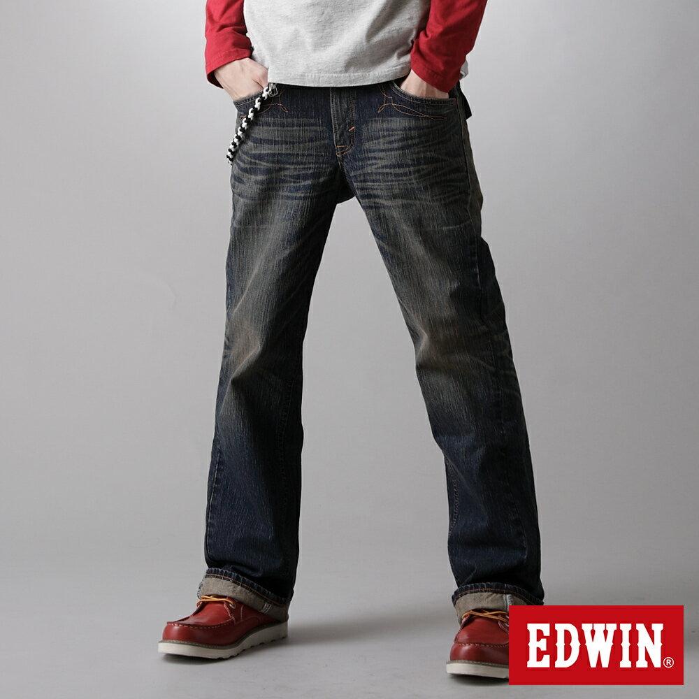 EDWIN XV 袋蓋靴型牛仔褲-男款 中古藍 BOOTCUT 零碼 0