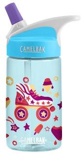 【【蘋果戶外】】美國Camelbak兒童彈跳式吸管水瓶溜冰派對400ml0.4L0.4公升登山水壺單車水壺