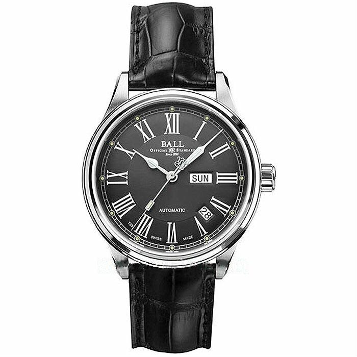 BALL 波爾錶 NM1058D-L4FJ-GY Trainmaster Roman 紳士機械腕錶/灰面 41mm