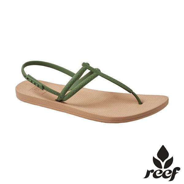 【新品上市↘】REEFESCAPE人體工學超Q彈橡膠舒適好穿防滑耐磨女款可調整夾腳人字涼拖鞋.橄欖綠RF0A3FD5OLI