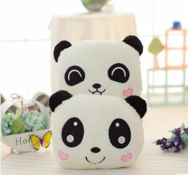 美麗大街【HB107031205E2】可愛卡通熊貓毛絨暖手抱枕(抱枕款)