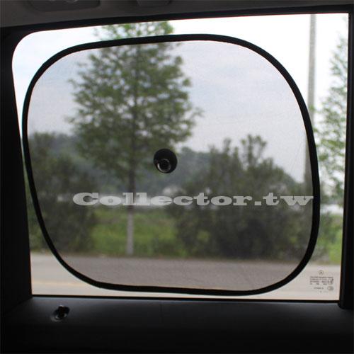 【超取299免運】夏季防曬避光汽車遮陽檔(一式兩個) 黑色網紗遮光汽車側窗遮陽板