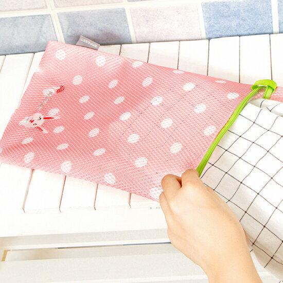 Mycolor:♚MYCOLOR♚繡花圖案洗衣袋(中)拉鍊網袋晾曬護洗內衣內褲毛衣分類清潔【Y51-2】