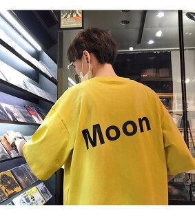 FINDSENSEG6韓國時尚夏季新款個性字母印花黑色短袖T恤女韓版寬鬆休閒T恤