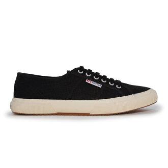 【SUPERGA】義大利國民鞋-黑 Cotu - Classic2750【全店滿4500領券最高現折588】