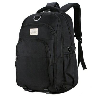 後背包純色電腦包-防水耐磨旅行大容量男雙肩包2色73ru34【獨家進口】【米蘭精品】
